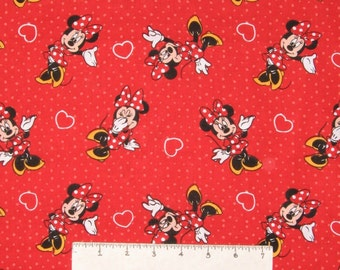 Disney Fabric - Minnie Mouse Hearts & Polka Dots - Springs CP52517 YARD