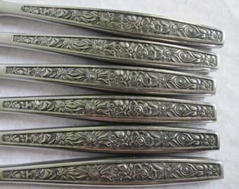 Vintage Oneida Northland OHS96 Stainless Steel Dinner Knives Knife 6