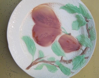 Vintage French St. Clement Majolica Fruit plate