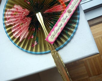 1960s Foldaway Fan - Keep Cool and be Gay - Chinese - Purse Fan.