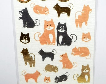 Kawaii Japanese Washi Stickers -  / Shiba Inu Dogs