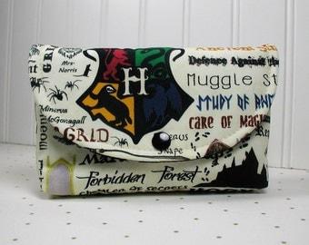 Hogwarts Pouch, Harry Potter Pouch, Magic School Pouch,  Large Snap Pouch