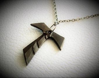 TAU Cross .  Cross solid Bronze.  metal Jewelry tau cross francis franciscan Tau cross   Religious Gift