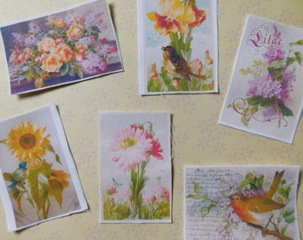 Spring Floral Theme Fabric Scraps - Fabric Embellishments