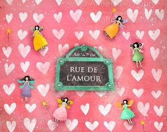 Winter Sale 20% OFF - Rue de l'Amour - open edition print
