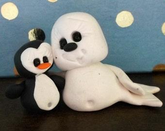 Snow Buddies polymer clay figurines