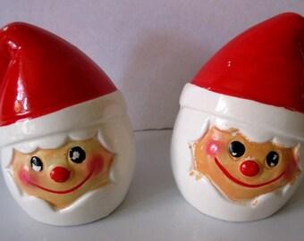 Vintage Holt Howard Christmas Cloud Santa Salt and Pepper Shakers