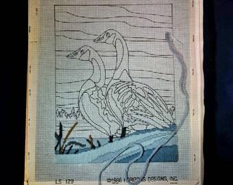 Vintage DIY  Duck Cross Stitch