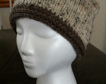 A slightly tweedy brown hat