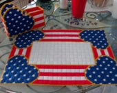2 Patriotic Place Mats RESERVED FOR PAT