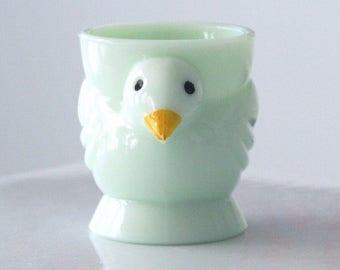 Jadite Opalex Chick Egg Cup