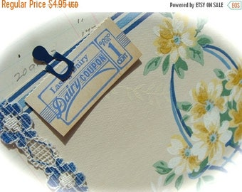 ON SALE 6 Antique Blue Metal Tag File Clips
