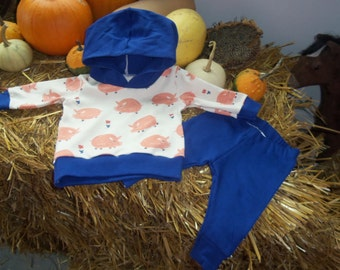 Baby Girl Hoodie and Leggings Outfit