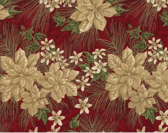 Red Forever Green Fabric - Holly Taylor - Moda - 6691 17