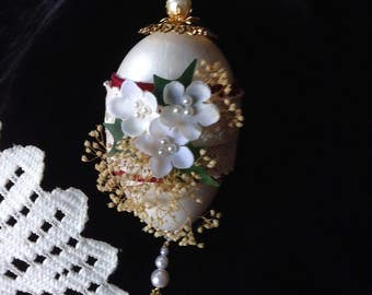 Victorian style decorated Goose Egg