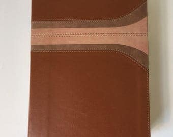 Brown Striped Blank Spanish Leather Journal
