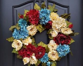 Americana Decor, Patriotic Wreaths, 4th of July Wreaths, Vintage Inspired Wreaths, Summer Wreaths, Primitive Decor