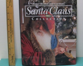 Cross Stitch Embroidery Pattern Book Vintage Christmas Santa Claus Needlepoint Needle Craft BetterHostess Gift Homes Gardens Hard Cover