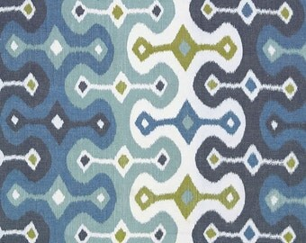 Fabric BTY / Schumacher Darya Ikat  In any 3 Color Ways / Save On 2 Yards Or More