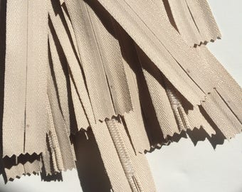 Special Price-Slight Defect- 16 Inch Invisible Zippers YKK Color 572 Beige 100 Pieces