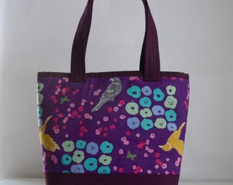 Echino Flower Bed Fabric Tote Bag - READY TO SHIP