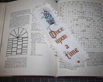 Once upon a Time - . Cross stitch bookmark.