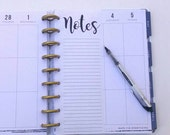 Happy Planner Inserts, Notes, Notes List, Happy Planner List, Planner Inserts, To Do List Happy Planner Paper (12)