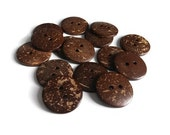15 Brown Coconut Big Buttons 30mm - Bulk Set 15% off (BC603FX) - Flat rate shipping