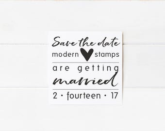 Custom Wedding Stamp   Save the Date Stamp   Custom Rubber Stamp   Custom Stamp   Personalized Stamp  Modern Save the Date    D15