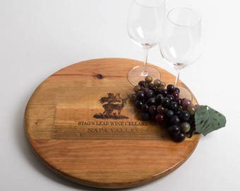 "Stag's Leap Wine Crate featured on our 16"" Lazy Susan"
