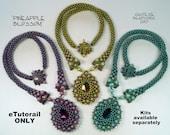 eTUTORIAL Pineapple Blossom Necklace for Intermediate/Advanced Beadweavers