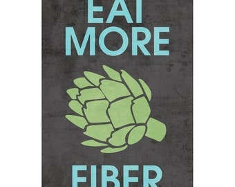Eat More Fiber artichoke poster