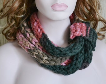 Knitted Chunky Rope Neckwarmer