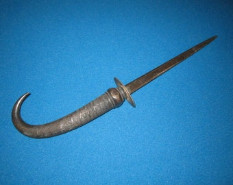 Antique Primitive Letter Opener with Horn Handle as found