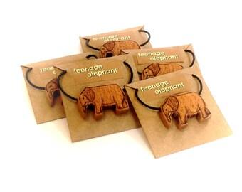 Teenage Elephant Jewlery 'Save the Elephants' cherry wood pendent