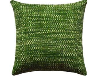 Outdoor STUFFED Throw Pillow, Outdoor Decorative Pillow, Green Deck Pillow, Richloom Remi Palm Outdoor Throw Pillow, Green Cushion Free Ship