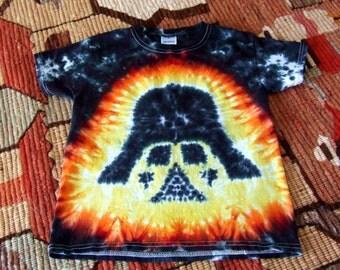 Youth XS Darth Vader Star Wars Tie Dye T-shirt - Ready to Ship