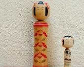 Large Naruko Kokeshi Doll / Japanese / Vintage Japanese / 1980s / Wood Doll / Boho decor / Folk Art / Kasuo Sato signature