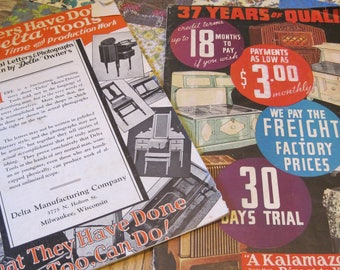Two Interesting Vintage Catalogs Delta Tools and Kalamazoo Stove and Furnace