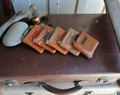 Kangaroo Leather Pouches - Small in Tans
