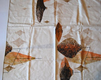 Vintage Mid Century Fabric, New Dead Stock