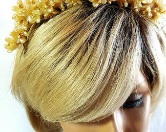 Victorian Orange Blossom Bridal Headpiece / Wax Flowers / Headpiece / Bridal /Wedding
