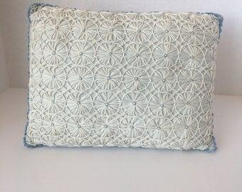 Vintage Lace Stitched Pillow