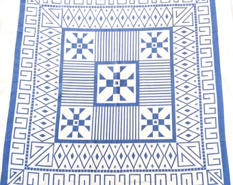 Aztec Print Tablecloth by Rosemary Stylecraft 1940s
