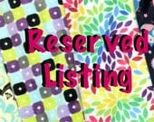 Reserved listing for Eleanor