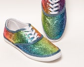 Sequin - Starlight Rainbow CVO Multi Color Canvas Sneakers Shoes