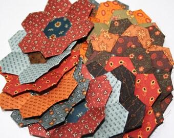 21 Civil War Reproduction SALE Hexagon Flowers English Paper Piecing Jo Morton