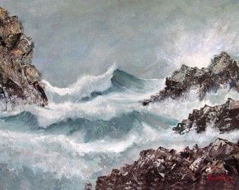 Landscape Seascape Ocean Print Poster, Wall art, fine art prints, ocean, home decor, signed print