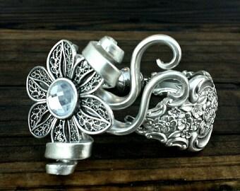 Antique Silverplate Fork Bracelet