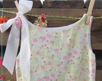 REVERSIBLE Sundress, Pink and Yellow Dress, Lace Ruffle Dress, Girls' Size 3 - 4